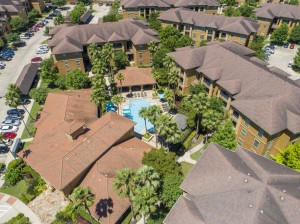 Three Bedroom Apartments for Rent in Northwest Houston, TX -Aerial View of Community & Pool